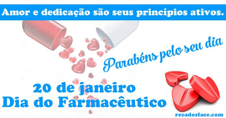 Mensagem dia do farmacêutico para Facebook