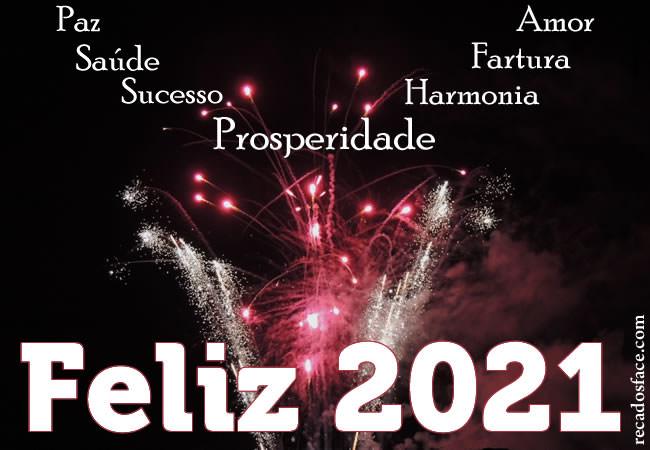 Paz, saúde, sucesso, prosperidade, amor, fartura, harmonia. Feliz 2021!