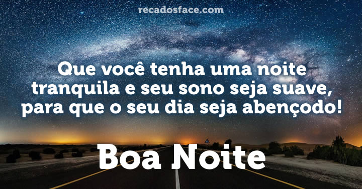 Boa Noite Frases E Mensagens De Boa Noite Para Facebook