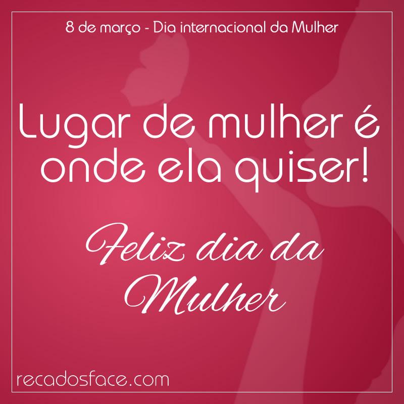 Mensagens e imagens de Dia da Mulher