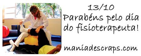 13/10 dia do fisioterapeuta - Imagens para facebook