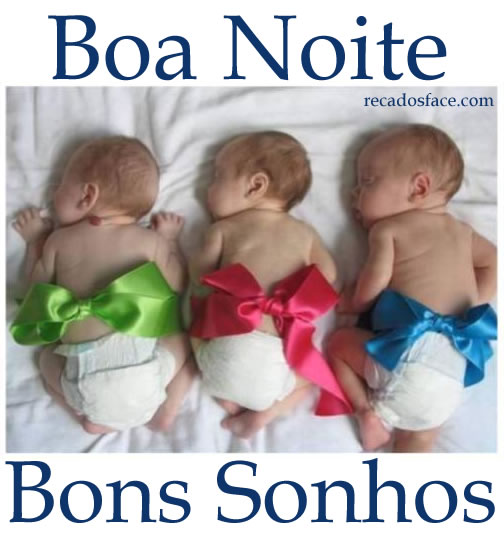 Bons Sonhos - Imagens para facebook