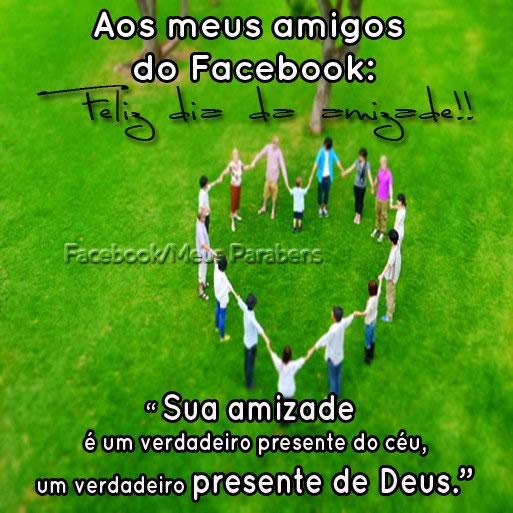 Aos meus amigos Dia da Amizade - Imagens para facebook