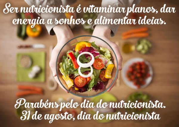 Veja mais mensagens de Dia do  Nutricionista