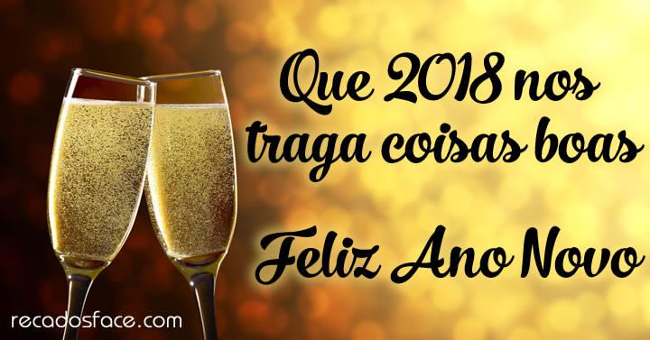 Mensagem de Feliz 2018