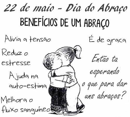 Dia do Abraço - Imagens para facebook