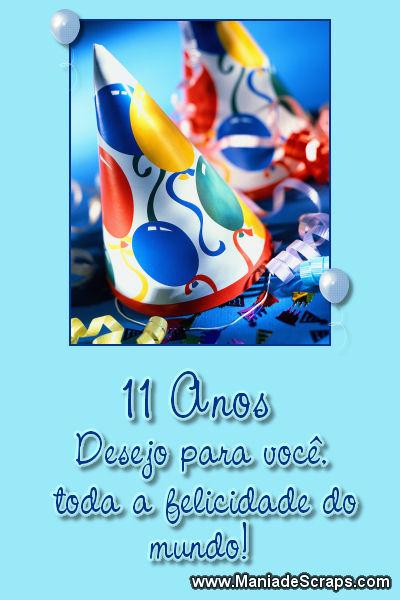 Aniversário de 11 anos - Imagens para facebook