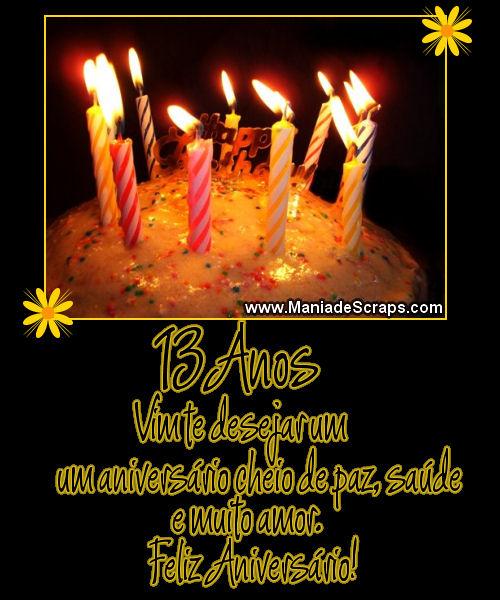 Aniversário de 13 anos - Imagens para facebook