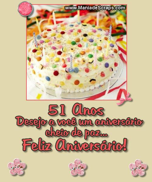 feliz aniversário de 51 anos