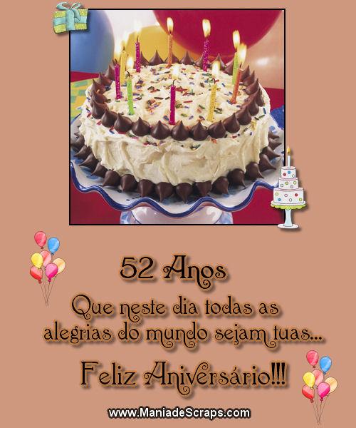 feliz aniversário de 52 anos