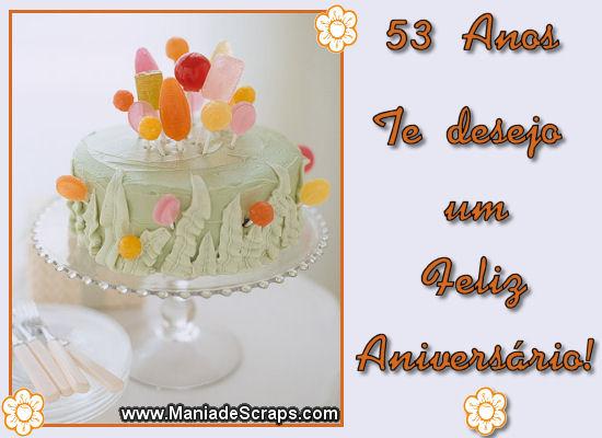 feliz aniversário de 53 anos