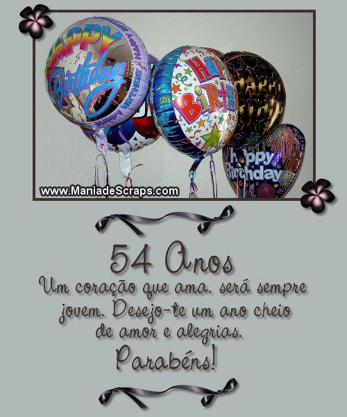 feliz aniversário de 54 anos