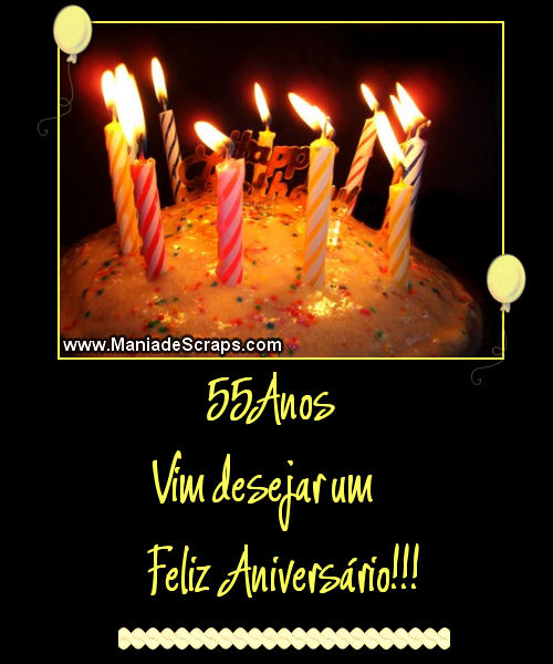 Feliz aniversário de 55 anos - Imagens para facebook