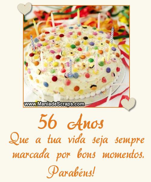 Feliz aniversário de 56 anos