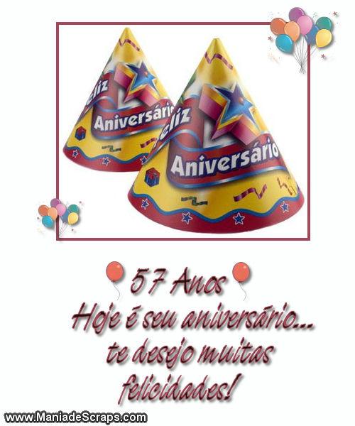 Feliz aniversário de 57 anos