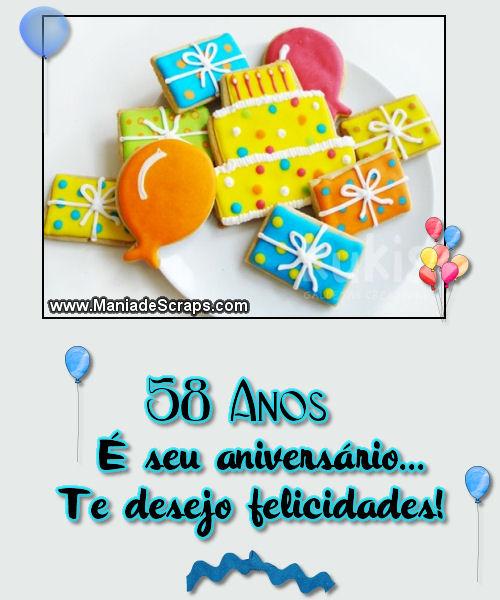 Feliz aniversário de 58 anos