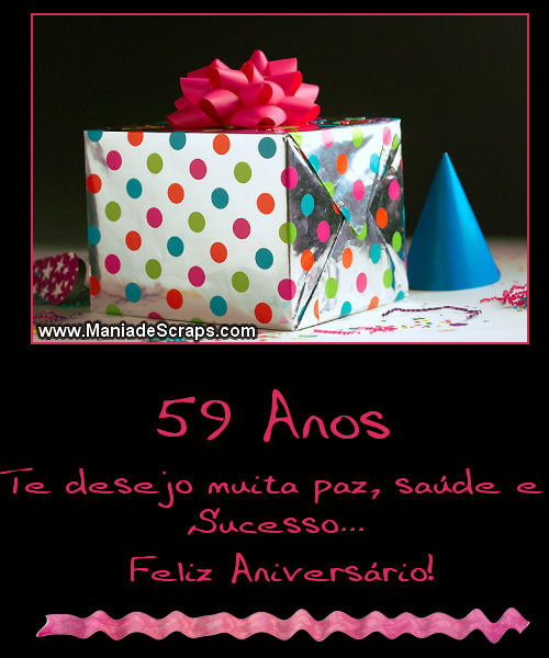 Feliz aniversário de 59 anos