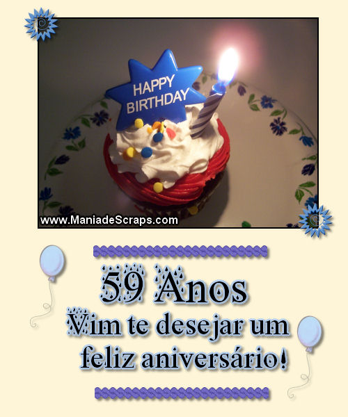 Feliz aniversário de 59 anos - Imagens para facebook