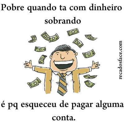 Meme - pobre com dinheiro