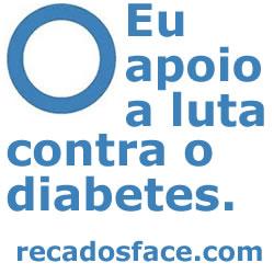 Eu apoio a luta contra o Diabetes.