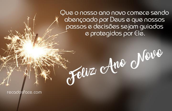 Que o nosso ano novo comece sendo abençoado por Deus e que nossos passos e decisões sejam guiados e protegidos por Ele. Feliz Ano Novo!