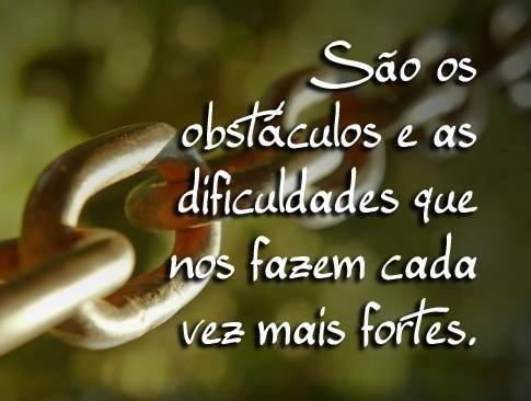 Frase os obstáculos