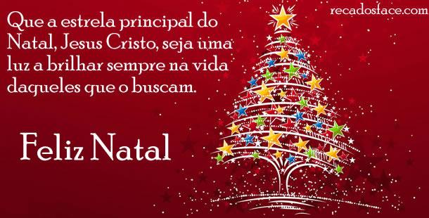 Feliz Natal que a estrela principal do natal, Jesus cristo