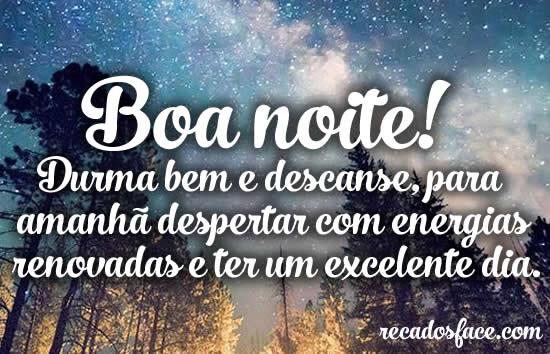Boa Noite! Durma bem - Imagens para facebook