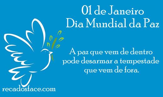 Dia mundial da paz a paz que vem de dentro