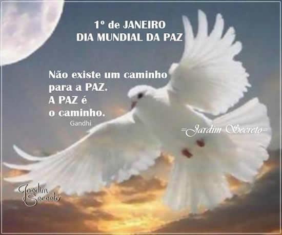Dia mundial da paz, a paz é o caminho