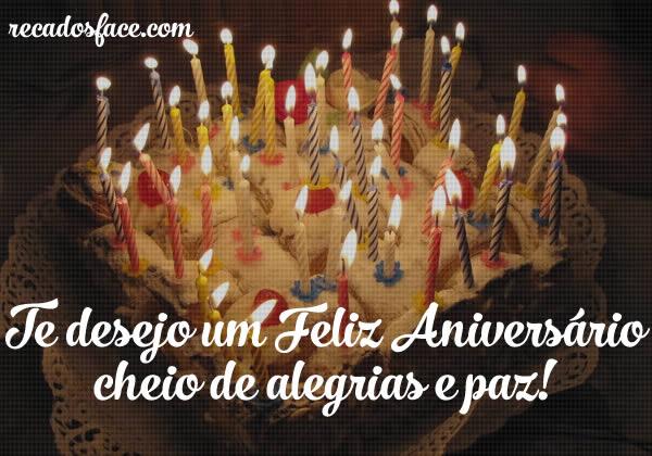 Feliz aniversário cheio de alegrias e paz