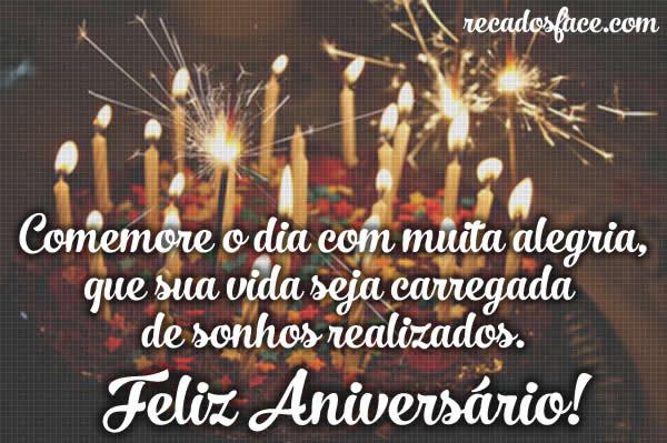 Conhecido Feliz Aniversário - Frases e Mensagens de para Facebook YJ34