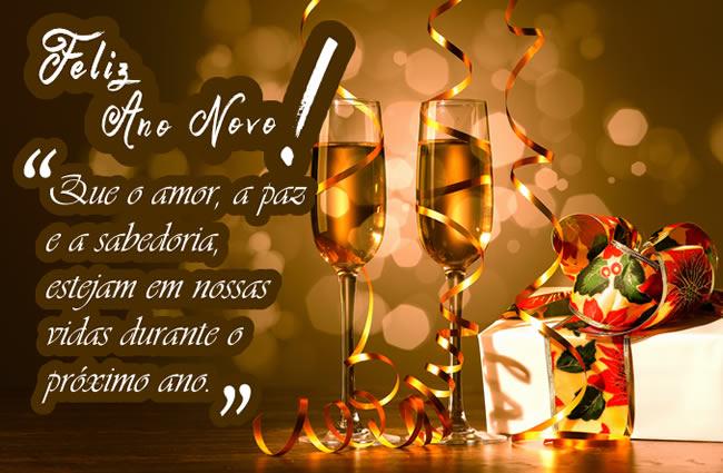 Feliz Ano Novo que o amor e a paz
