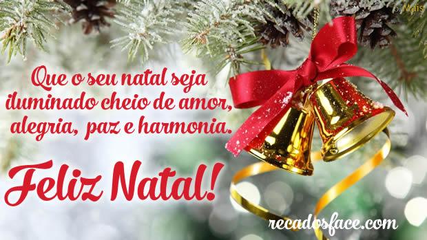 Feliz natal com paz e harmonia